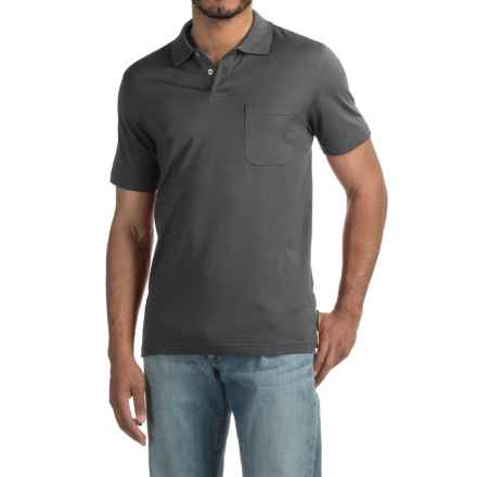Pinstripe Polo Shirt - Short Sleeve (For Men) in Dark Steel - 2nds