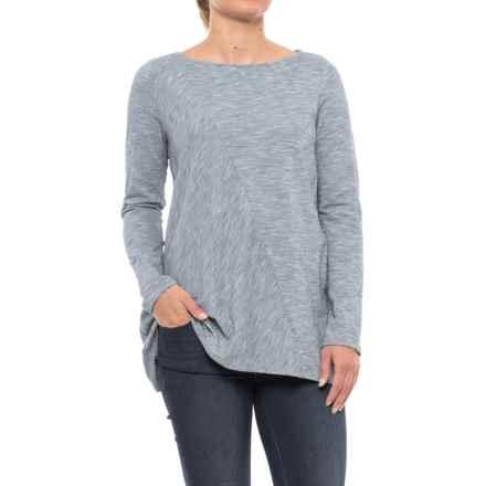 Pinstripe Tunic Shirt - Pima Cotton, Long Sleeve (For Women) in Blue - 2nds
