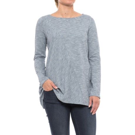 Pinstripe Tunic Shirt - Pima Cotton, Long Sleeve (For Women)