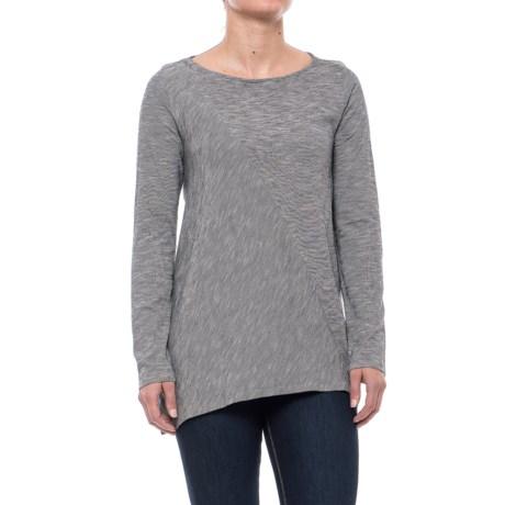 Pinstripe Tunic Shirt - Pima Cotton, Long Sleeve (For Women)