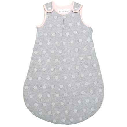Piper & Posie Knit Dot Rounded Sleep Bag (For Infants) in Heather Grey Pink - Closeouts