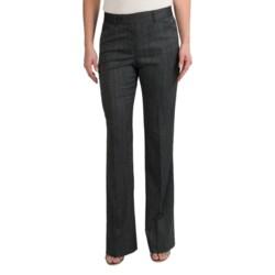 Pippa Herringbone Pants - Bootcut (For Women) in Black Twist