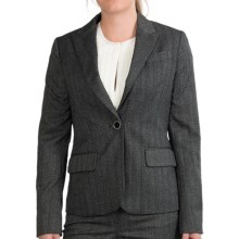 Pippa Stretch Herringbone Blazer (For Women) in Black Twist - Closeouts