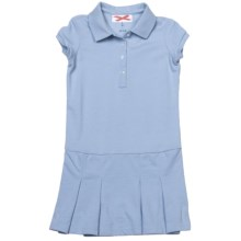 Pique Cotton Dress - Short Sleeve (For Girls) in Light Blue - 2nds