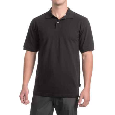 Pique Cotton Polo Shirt - Short Sleeve (For Men) in Black - 2nds