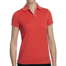 Pique High-Performance Polo Shirt - Short Sleeve (For Women) in Coral - Closeouts