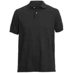 Pique Polo Shirt - Short Sleeve (For Men) in Navy