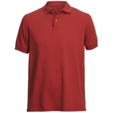 Pique Polo Shirt - Short Sleeve (For Men) in Cardinal Red - Closeouts