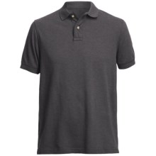 Pique Polo Shirt - Short Sleeve (For Men) in Charcoal - Closeouts
