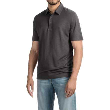 Pique Polo Shirt - Short Sleeve (For Men) in Midnight - 2nds