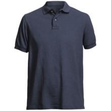 Pique Polo Shirt - Short Sleeve (For Men) in Navy - Closeouts
