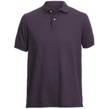 Pique Polo Shirt - Short Sleeve (For Men) in Purple - Closeouts