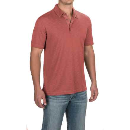 Pique Polo Shirt - Short Sleeve (For Men) in Spice - 2nds