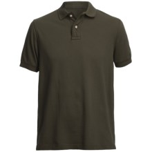 Pique Polo Shirt - Short Sleeve (For Men) in Taupe - Closeouts