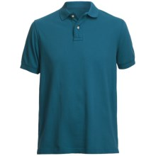 Pique Polo Shirt - Short Sleeve (For Men) in Teal - Closeouts