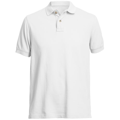 Pique Polo Shirt - Short Sleeve (For Men) in White