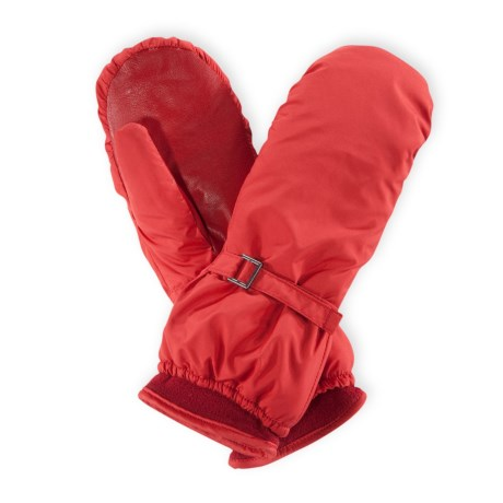 Pistil Butter Mittens - Insulated, Fleece Lined (For Women) in Red