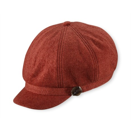 Pistil Cabbie Cap (For Women) in Paprika
