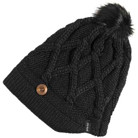 Pistil Cate Basket-Weave Knit Beanie (For Women) in Black - Closeouts