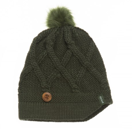 Pistil Cate Basket-Weave Knit Beanie (For Women) in Olive