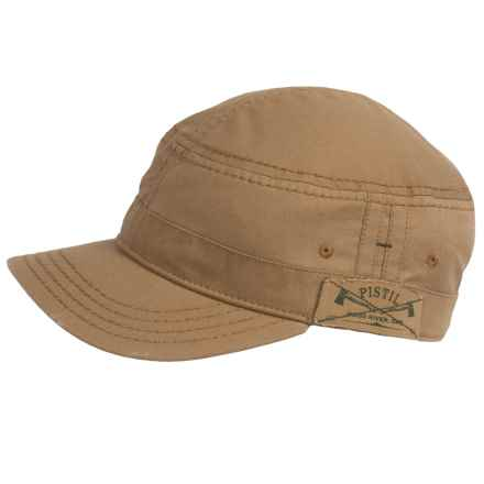 Pistil Cubano Military Style Cap (For Men) in Khaki - Closeouts