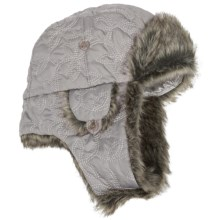 Pistil Cupcake Aviator Hat - Faux-Fur Lining (For Women) in Silver - Closeouts