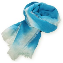 Pistil Daphne Scarf - Viscose-Linen (For Women) in Blue - Closeouts