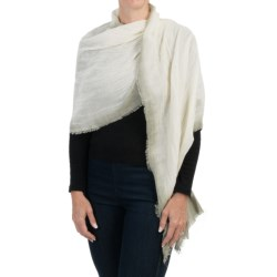 Pistil Daphne Scarf - Viscose-Linen (For Women) in Ivory