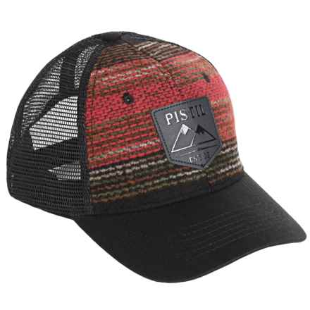 Pistil Dwight Trucker Hat (For Men) in Black - Closeouts