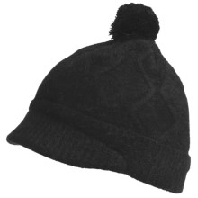Pistil Freya Brimmed Beanie Hat - Wool-Angora (For Girls) in 01 Black - Closeouts