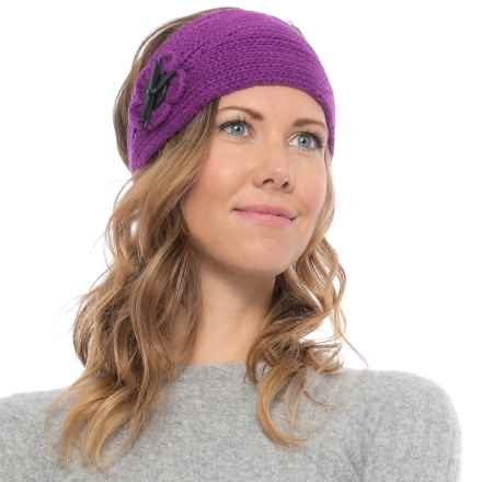 Pistil Frida Knit Headband (For Women) in Grape - Closeouts