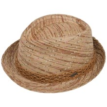 Pistil Frolic Fedora - Paper Straw (For Women) in Natural - Closeouts