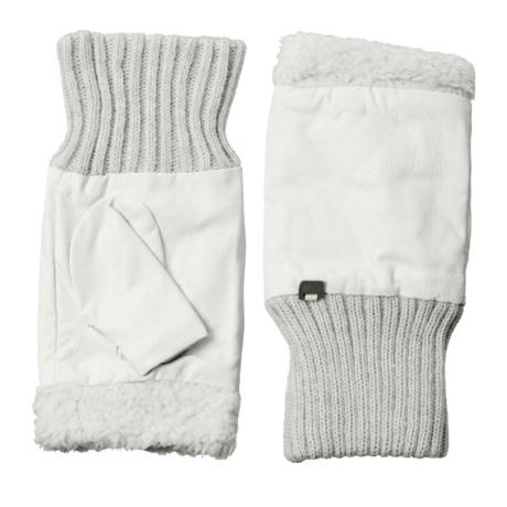 Pistil Lita Handwarmer Wristlets - Vegan Leather (For Women) in Ivory