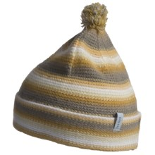 Pistil Lucky Striped Knit Beanie Hat (For Girls) in Yellow - Closeouts