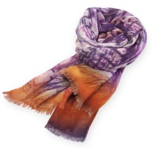 Pistil Maya Scarf - Hand-Dyed (For Women) in Plum - Closeouts