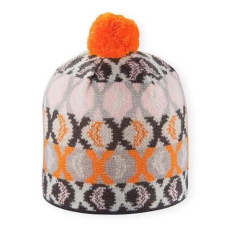 Pistil Mimic Beanie - Wool Blend (For Women) in Orange