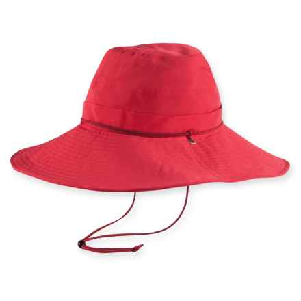 Pistil Mina Nylon Wire Brim Sun Hat with Chin Cord - UPF 40+ (For Women) in Red - Closeouts