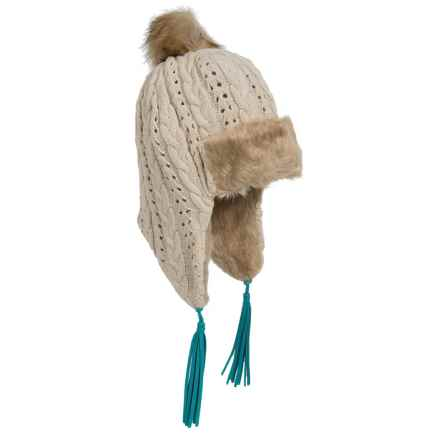 Pistil Odette Cable-Knit Trapper Beanie (For Women) in Natural - Closeouts