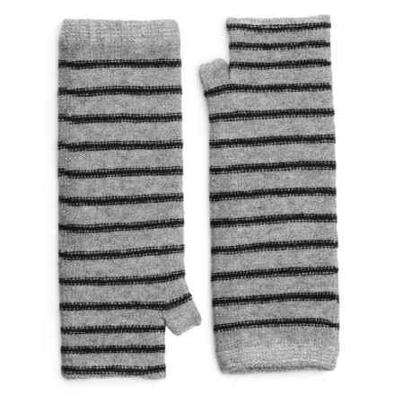 Pistil Preppy Fingerless Mittens - Wool Blend (For Women) in Black - Closeouts