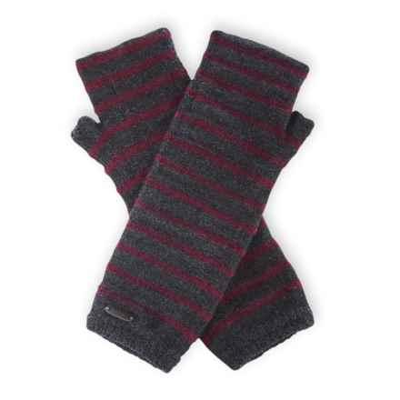 Pistil Preppy Fingerless Mittens - Wool Blend (For Women) in Plum - Closeouts