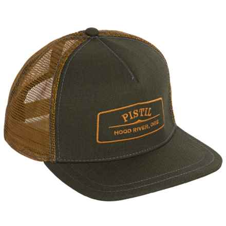 Pistil Quincy Trucker Hat (For Men) in Olive - Closeouts