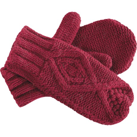 Pistil Riley Mittens - Wool-Angora (For Women) in Red