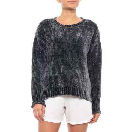 P.J. Salvage Chenille Cozies Sweater (For Women) in Smoke - Closeouts