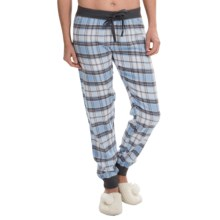 PJ Salvage Cotton Flannel Joggers (For Women) in Blue - Closeouts