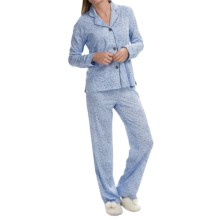 PJ Salvage Cotton-Modal Knit Pajamas - Long Sleeve (For Women) in Blue - Closeouts