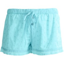PJ Salvage Eyelet Shorts (For Women) in Aqua - Closeouts