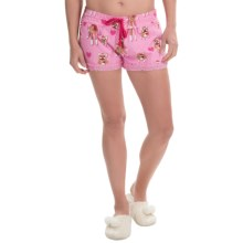PJ Salvage Flannel Drawstring Shorts (For Women) in Strawberry - Closeouts