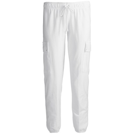 PJ Salvage French Terry Lounge Crop Pants (For Women) in White