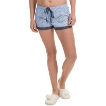 PJ Salvage Jersey Lounge Shorts - Drawstring (For Women) in Blue - Closeouts