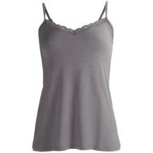 PJ Salvage Lace Camisole - Stretch Modal, Spaghetti Strap (For Women) in Grey - Closeouts